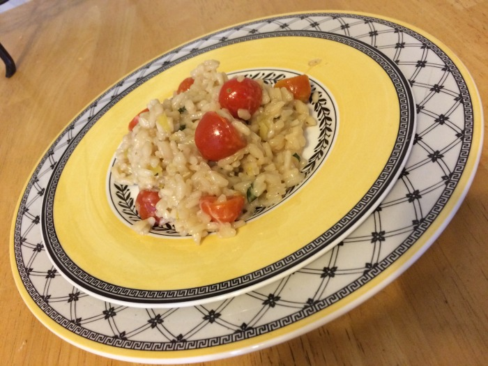 """""""You So Fancy"""" Risotto Margherita"""